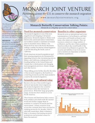 Monarch Conservation Talking Points