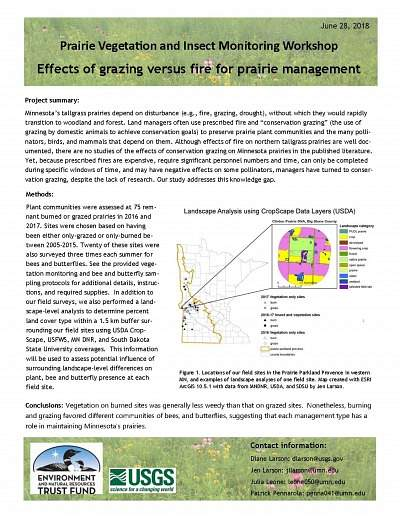 Effects of Grazing versus Fire for Prairie Management Handout