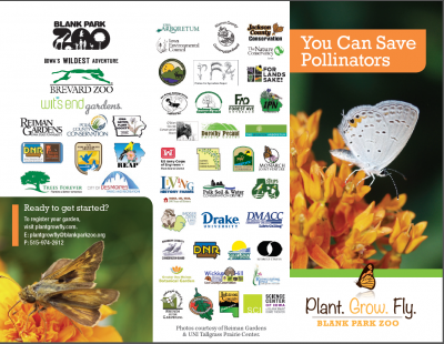 Plant Grow Fly: You Can Save Pollinators Brochure